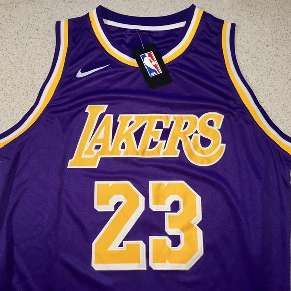 2018 LEBRON JAMES LOS ANGELES LAKERS JERSEY PURPLE bd52222be